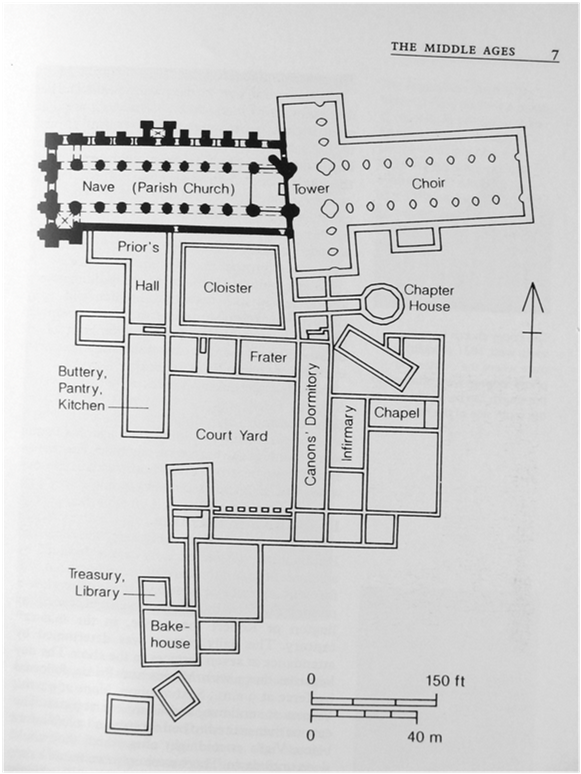 Plan of Bridlington Priory